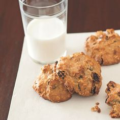 These healthy breakfast cookies are full of fiber and filling protein. (Hello, oatmeal swap!) Get the recipe and more healthy cookie recipes here: http://www.womenshealthmag.com/nutrition/healthy-cookie-recipes?cm_mmc=Pinterest-_-womenshealth-_-content-food-_-healthycookies