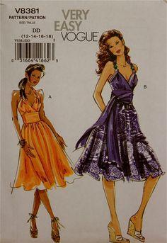 Sundress Very Easy Vogue Pattern 8381  Uncut by patterntreasury