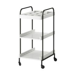 HJÄLMAREN cart #IKEA #PinToWin. This would be a good cosmetics/hair shelving unit in the girls' upstairs bathroom.