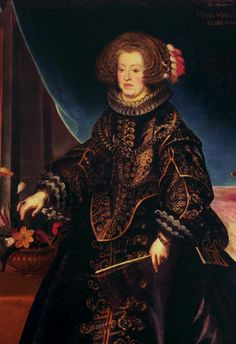 Fragment of portrait of Maria Anna of Spain, Holy Roman Empress by Frans Luycx, ca. 1638 (PD-art/old), Klasztor Sióstr Wizytek, from the collection of the Polish Vasas
