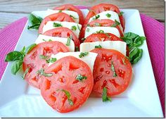 Mozz, Tom and Basil Caprese Salad