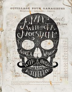 Skulls & Quotes by BMD Design, via Behance