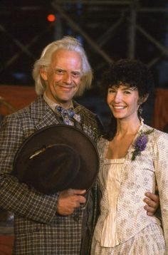 The father of Steampunk.. Doc...! lol BACK TO THE FUTURE PART III, Christopher Lloyd, Mary Steenburgen, 1990, (c) Universal