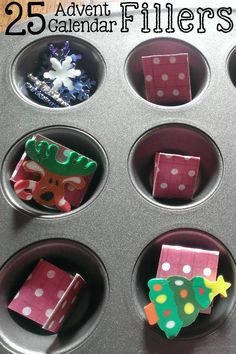 25 unique ideas for filling up your Advent Calendar - start with a set, do something different every day, or fill with a new activity for each day! Christmas fun with the kids made easy!