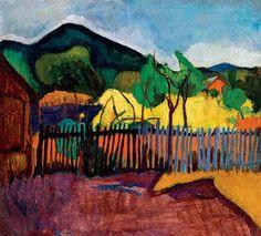 Geza Bornemissza: View towards the hill, (Hungarian painter) Moving To Paris, Henri Matisse, Abstract Landscape, Art School, All The Colors, Modern Art, Art Gallery, Colours, Fine Art