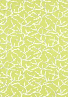 Regina #wallpaper in #green from the Resort collection. #Thibaut