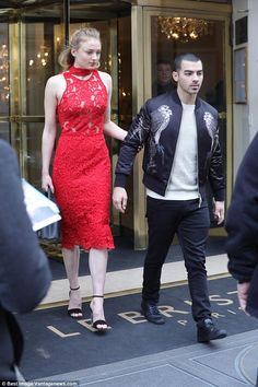 J'adore: It came as no surprise to see Sophie Turner, 21, and Joe Jonas, 27, looked cosy as they explored Paris - the city of love - together on Tuesday