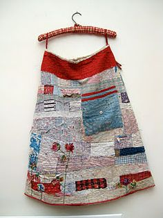 Garments made from recycled quilts. Excellent fabric artist.