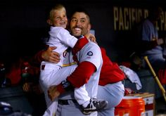 Ferrrrrnannndo Vvvvena!  Oct. 13, 2002 -- St. Louis shortstop Fernando Vina was among the Cardinals who helped host 5-year-old Kannon Kile, son of late Cardinals pitcher Darryl Kile, during game four of the NLCS at Pacific Bell Park in San Francisco Sunday.