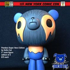 NYCC Exclusive Pandara Super Hero Edition resin figure by SoKo Cat: $75