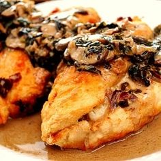 Stuffed Chicken Marsala... mouthwatering!