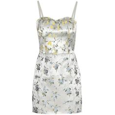 Alexander McQueen Silk-Blend Jacquard Mini Dress ($1,620) ❤ liked on Polyvore featuring dresses, silver, colorful dresses, multicolor dress, white mini dress, short dresses and multicolored dress