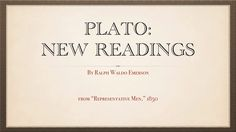 """Plato: New Readings"