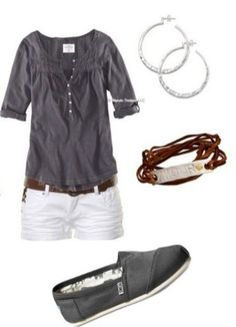 150 pretty casual shorts summer outfit combinations (174)