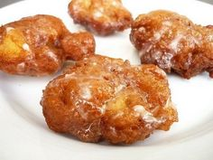 Apple fritters and pb caramel sauce