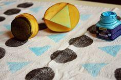 Kuddelmuddel: DIY: Geschirrtücher bedrucken (Kartoffeldruck)
