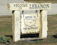 Lebanon, Kansas. The Geographic center of the contiguous United States