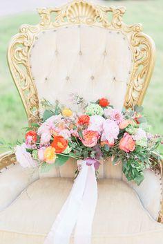 Colorful boho bouquet: http://www.stylemepretty.com/texas-weddings/quinlan-texas/2016/06/16/a-chance-encounter-inspired-this-bright-boho-editorial/   Photography: Rachel Elaine Photography - http://www.photographybyrachelelaine.com/