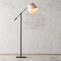 The Hollis Task Floor Lamp celebrates form and function with its slim silhouette and adjustable reader head. The soft cream shade offers a serene counterpoint to the antique metal finish of the base. Tree Floor Lamp, White Floor Lamp, Swing Arm Floor Lamp, Arc Floor Lamps, Desk Lamp, Table Lamp, Console Table, Traditional Floor Lamps, Contemporary Floor Lamps