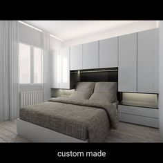 New Ideas bedroom wardrobe bed furniture Small Apartment Bedrooms, Small Room Bedroom, Trendy Bedroom, Small Rooms, Home Decor Bedroom, Modern Bedroom, Small Spaces, Design Bedroom, Bedroom Ideas
