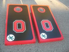 Ohio State Cornhole Boards and bags regulation size on Etsy, $210.00