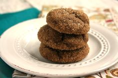 Pumpkin Molasses Cookies have a lovely light texture and delicious sugar sparkled crackly coating. They're like gingerbread cake in a cookie.
