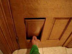 Clever Cat Litter Box - Ragdoll Cat Door in a 6-Panel Door - ラグドール Flopp...