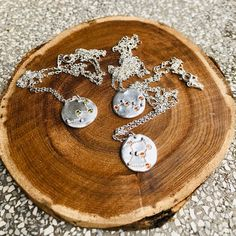 Star constellation necklace, Orion necklace, Silver disk necklace, Organic shaped silver necklace, Eco friendly necklace