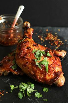 Sweet Thai Chili Roasted Chicken - This Paleo dinner is quick, easy, and super flavorful!