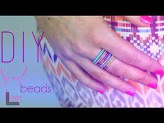 TUTORIEL - DIY : BAGUES EN PERLES DE ROCAILLES - Seed Beads ring (english subs)  DIY français with english subs