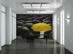 Umbrellas - inspiration wall mural, interiors gallery• PIXERSIZE.com