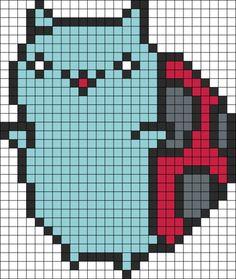 Catbug cross stitch pattern
