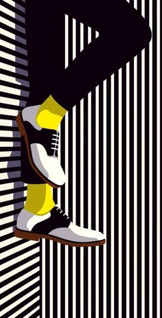 Simple design yet very interesting. I like the shadow because we understand he is laid down the floor and not the wall. the yellow socks are interesting and I like how it is the only color in the whole image. AR