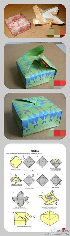 origami self-sealing gift box Diy Origami, Origami And Kirigami, Paper Crafts Origami, Oragami, Origami Gift Box, Origami Wedding, Origami Ideas, Diy Papier, Paper Folding