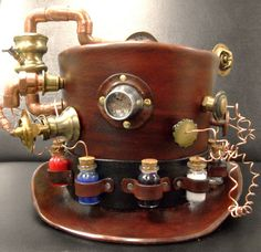 Prof Mortimers portable amazing elixir creation machine TOP HAT on Etsy, $285.00