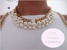 ✂ DIY collar de perlas fácil paso a paso /Nerea Iglesias. Vestido blanco...