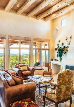 Southwestern Living Room  Tesuque Village Real Estate  Rush Van Interesting Southwestern Living Room Decorating Design