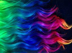 Golly, I love rainbow hair. By Ursula Goff & stuff - Home