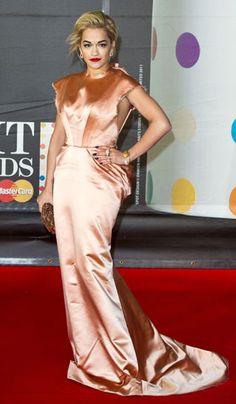 Rita Ora in Ulyana Sergeenko, Brit Awards 2013 fashion