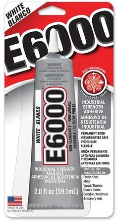 E6000 White Industrial Strength Adhesive