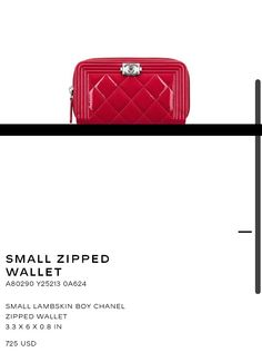 Small Chanel Zipped wallet