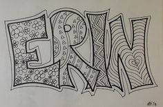 Zentangle of your name