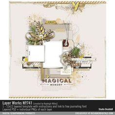Layer Works No. 741- Studio Double-D Templates- LT012448- DesignerDigitals