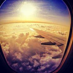 Flying.