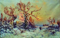 File:1897. Зимний вечер. Деревушка.jpg