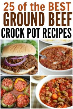 Looking for Ground Beef crock pot recipes? Here are ground beef recipes in the crockpot that you are going to love. Try these easy and frugal meals. Recipes With Ground Beef Videos, Ground Beef Crockpot Recipes, Slow Cooker Ground Beef, Beef Recipes For Dinner, Slow Cooker Recipes, Slower Cooker, Hamburger Recipes, Crockpot Meals, Pork Recipes