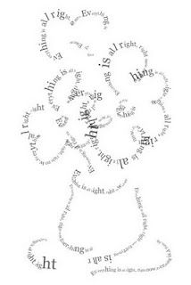 Creating Visual Poetry (Calligram) using TypeDrawing App. For iPod Touch and iPhone only.