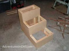 how to make dog stair for bed   steps make your own dog steps using this plan with step by step format ...