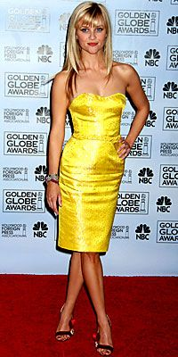 reese witherspoon in nina ricci - 2007 golden globes