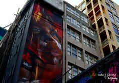 Indigenous Boy Adnate Creation - Hosier Lane Melbourne